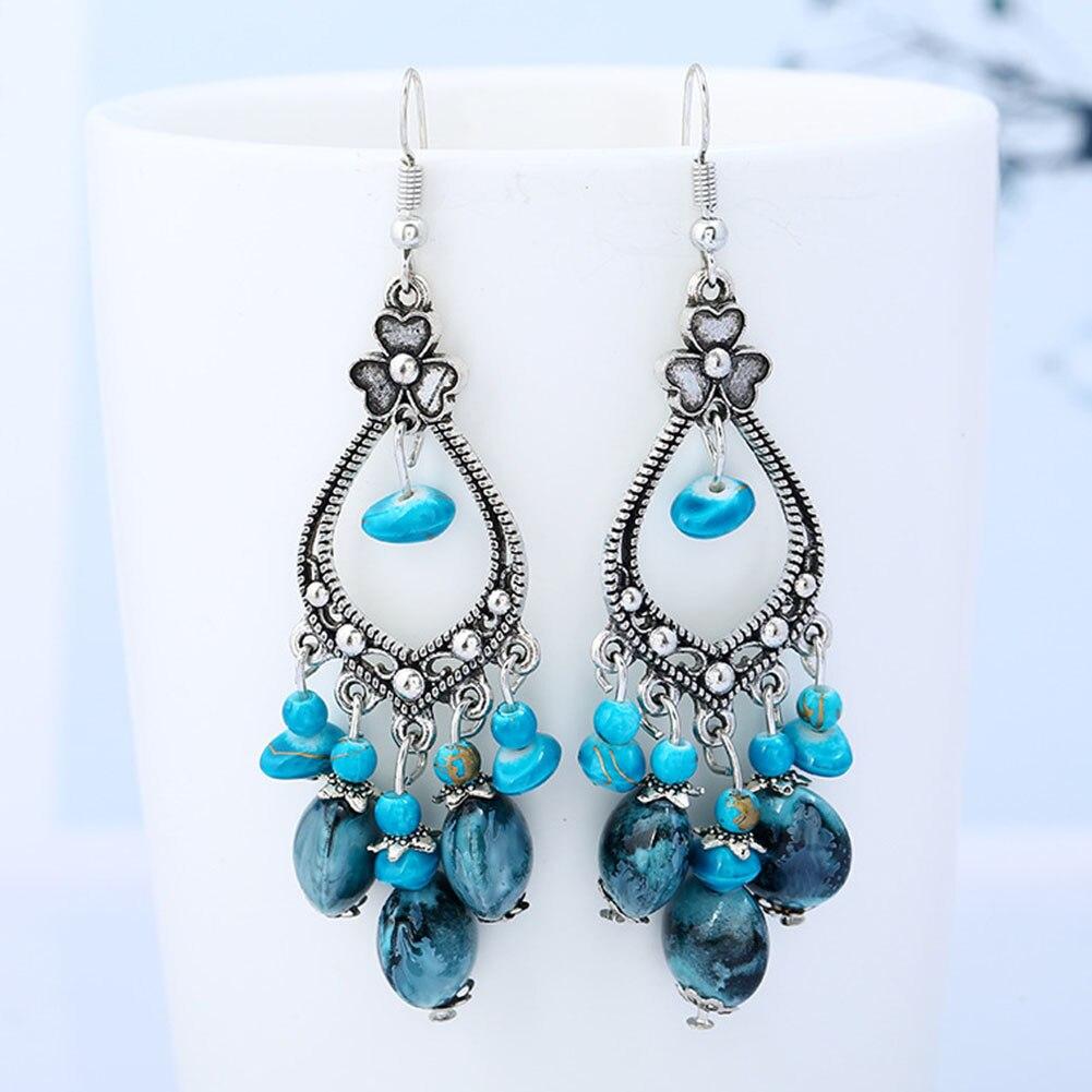 Bohemia Tassel Earrings Women Unique Design Tassel Stylish Heart Charm  Luxury  Flower