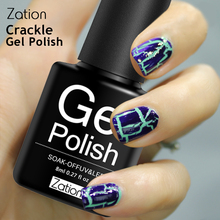 Zation Soak Off Nails Crack UV Nail Gel Lacquer Varnish Crackle Cracking Shatter Nail Polish Colorful Primer Manicure Gel Polish(China)