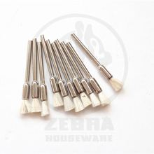 10 pcs/lot Pen shaped Wool Brushes/Wool brush for Wood/Iron Dust Cleaner for Dremel Rotary Tools/Mini Electric Drill