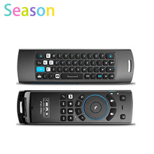 New MeLE F10 Pro 2.4GHz Wireless Keyboard Air Mouse Remote Control Earphone MIC Game Accessories for Android Tablet PC TV Box Pc