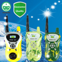 2PCS Kids Walkie Talkies Toys For Children Pretend Play Toys Walkie Talkies Camouflage Yellow Funny Electronic Toys Gift TY48