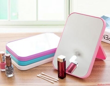 200PCS Simple Rectangular Desktop Mirror HD Makeup Mirror Desktop Dresser Mirror Folding Portable Makeup Mirror(China)