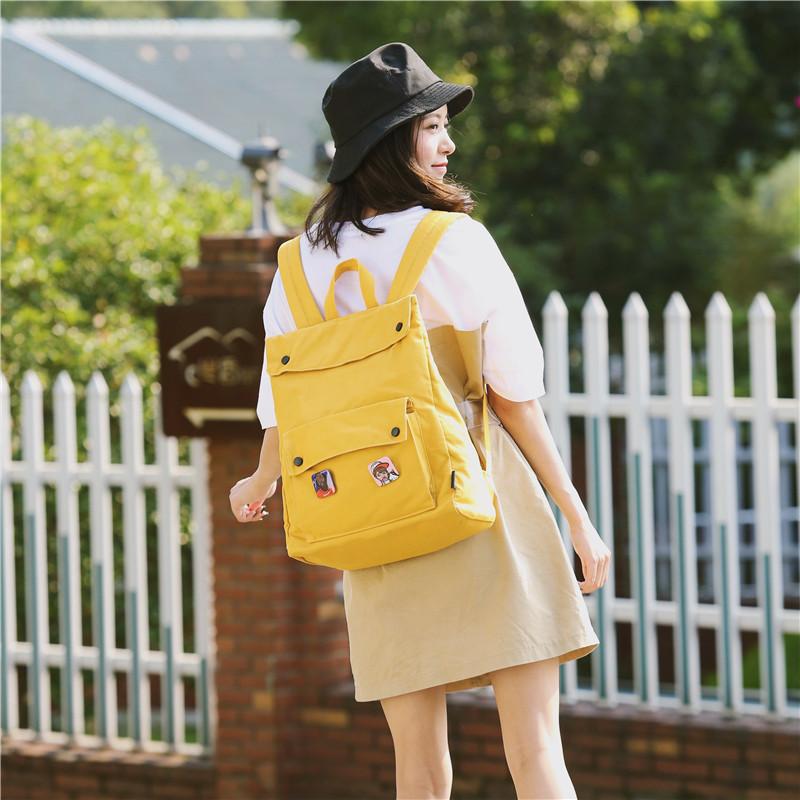 Menghuo Brand Female Women Canvas Backpack Preppy Style School Lady Girl Student School Laptop Bag Cotton Fabric bolsasRAEK0713