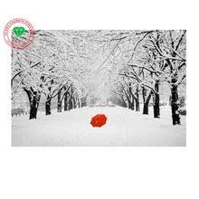 Full diamond embroidery landscape Red umbrella Snow 5d diamond painting cross stitch diy diamond painting landscape mosaic kit