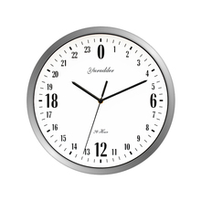 Newest 24 Hour Dial Design 12 Inches Metal Frame Modern Fashion Decorative Round Wall clock(China)