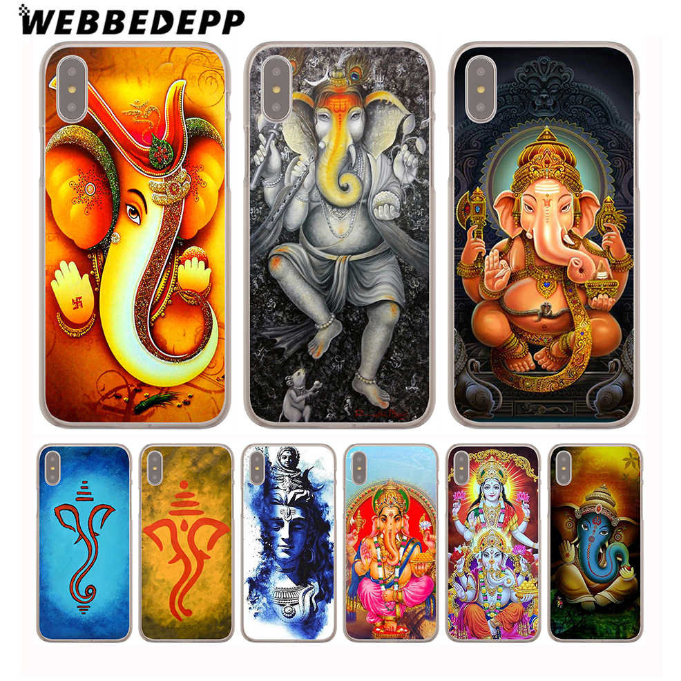 Жесткий чехол для телефона WEBBEDEPP Ganesha The indu God Ganesh для iPhone 4 4S 5C 5 5S SE 6 6S 7 8 Plus X XR XS 11 Pro Max