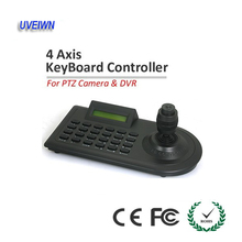 UVEIWN Security CCTV Camera 4 Axis Keyboard Controller LCD PTZ RS-485 Half-duplex Communication Mode 4D joystick free shipping