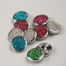 20pcs/lot new hot 20mm mix colors rhinestone snap button jewerly ginger snap button bracelet&bangles  free shipping