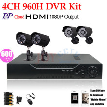 HDMI 1080P 4 Channel H.264 Full 960H D1 CCTV DVR Kit 600TVL IR Weatherproof Outdoor Video Surveillance Security Camera System