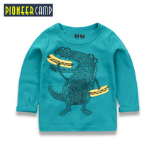 Pioneer Camp Kids 2-10Y Boys T-shirt Kids Tees Baby Boy T shirts blouse Children Long Sleeve t shirt 100% Cotton Top&Tee