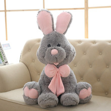 70cm Cute Costco American Big Rabbit Stuffed Dolls Plush Toy America Rabbit Animal with Long Ears Toys for Children(China)