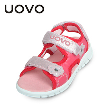 UOVO High Quality Baby Toddler Sandals Light Weight Sole Little Boys Girls Sandals Kids Sandals Two Straps Children Summer Shoes(China)