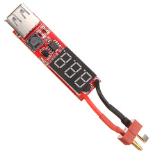 New Arrival T Plug 2S-6S Lipo Battery to USB Power Converter Adapter Digital Display 5V 1A(China)