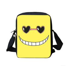 Fashion Cartoon Assassination Classroom Mini Shoulder Bag Students School Daily Casual Book Bag Travel Small Messenger Bags(China)