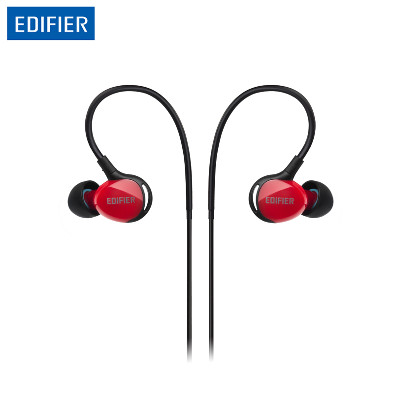 Edifier P281 Sports Earphones Optimized Bass Performance Headset IP57 Waterproof Dustproof Integrated Mic with Remote Control(China (Mainland))