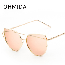 Buy New Fashion Cat Eye Sunglasses Women Brand Designer Twin-Beam Mirror Lens Sun Glasses Rose Gold Metal UV400 Lentes de sol Hombre for $3.02 in AliExpress store
