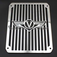 Top Quality Radiator Grill Cover Guard Protector Water Tank Cooler Cover for Motorcycle Kawasaki VULCAN VN400 VN800 VN 400 800(China)