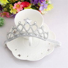1PC Girls Kids Children Baby Elastic Princess Party Crown Tiara Hair Head Band Crown molding baby hair band(China)