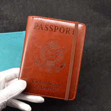 Buy Rfid USA Passport Holder Travel Pu Leather Coves Passports Multi-card Bit Case Passport Protector Anti Rfid Blocking for $5.56 in AliExpress store