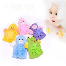 1 PCS Cute Soft Children Baby Shower Bathing Body Brush Cartoon Animals Style Bath Sponge Shower Wash Cloth Towels 5 Colors