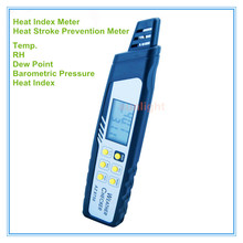 Pen Type Heat Index Checker Heat Stroke Preventer Temp. RH DP Temp. Heat Index Temp. Barometric Pressure 5 in 1