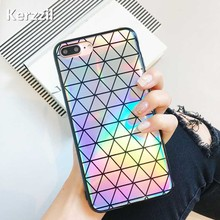 Kerzzil Laser Colorful Geometric Phone Case For iPhone 7 6 6S Plus Triangle Square Back Cover For iPhone X 6 6S 8 Plus Capa(China)