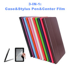 Free Protective Film&Stylus Pen for Ainol Novo 7 Flame Octa 7 Inch Tablet  PU Leather Cover Case