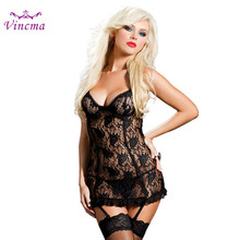 S M L XL XXL 3XL 4XL 5XL 6XL Erotic Underwear Women Plus Size Sexy Lingerie Hot Sex Babydolls Porno Costumes With 4 Pcs Garter(China)