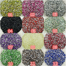 "DIY,1000pcs/bag,3D Nail Art Tips,SS6(2mm ),12 color resin flat back crystal rhinestone ""not hotfix:, nails for phone case #1"