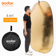 "Godox 59"" * 79"" 150*200cm 5 in 1 portable photography reflector Board Collapsible for Studio photography reflector(China)"
