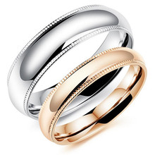 Romantic Couple Rings Free Customized Engraved Name Engagement Stainless Steel High Polish Bright Lover's Jewelry , GJ504
