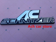Free shipping ABS High quality AC Schnitzer ACSchnitzer sticker badge emblem car logo Car Rear Trunk styling auto accessories