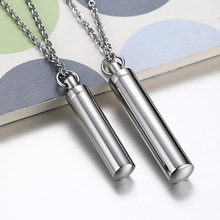 Fashion 2 Size Couple Perfume Bottle Necklaces For Women Men Charm Necklaces Pendants Jewelry 2017(China)