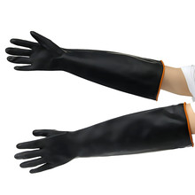 Safurance Latex Industrial Rubber Gloves Acid and Alkali Resistant Anti-corrosion Black Workplace Safety Protective Glove