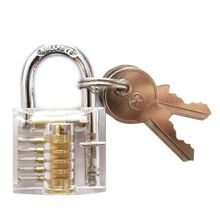 Beautiful Design Modern Style Transparent Visible Pick Cutaway Mini Practice View Padlock Lock Training Skill For Locksmith H7