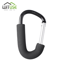 "5.5"" BIG D-RING KEYCHAIN HANG BUCKLE SNAP CLIP SAFE HOOK CARABINER SHOPPING(China)"