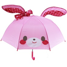 Kids Girl Cute Umbrella Baby Umbrella Rabbit Butterfly Knot Cartoon Children Umbrella