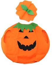 Funny pumpkin orange cloak clothes Trick Toy for Kid's children girl boy April fool's day halloween party favor decoration Wh