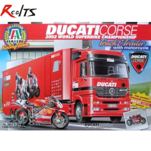 RealTS ITALERI 1/24 3815 Ducati Racing Team Truck with Bike Model