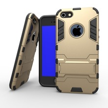 For iPhone 5S Case, Rugged Cool Iron Man Armor Impact Holster Shockproof Hard Case for iPhone On 5 5G 5S SE Cell Phone Cover