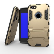For iPhone 5S Case Rugged Cool Iron Man Armor Impact Holster Shockproof Hard Case for iPhone On 5 5G 5S SE Cell Phone Cover(China)