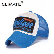 CLIMATE2017 New USA Yankees Summer Cool Mesh Trucker Baseball Caps Adult Men Women Net Sky Pink Rose Breathable Mesh Cool Hat