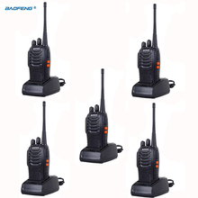 Walkie Talkie 5PCS 5w Two-Way Scanner Bf 888s Radio Communicator For Ham Portable Radio Station HF Transceiver baofeng bf-888s(China)