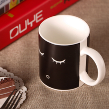 Coffee Tea Cup Color Change Morning Mug Black Colour Smile Face Black White Birthday Gift Hot