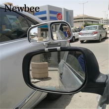 Newbee Car Styling Original Blind Spot Side Rear View Mirror Adjustable Double Convex auto Wide Angle For Parking Motorcycle(China)