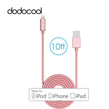 dodocool 10ft/3m MFi Lightning Cable USB Cable Data Sync Charger Cable for iPhone 6 6s 7/7 plus for iPad iPod Charging Cable(China)
