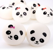 3.9 Inch Lovely Squishy Slow Rising Panda Phone Strap Toy Baby Kids Funny Toys Anti Stress Toys Gift
