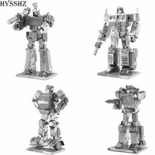 3D Metal Puzzle of Iron Man/GUNDAM/Transformer Assemble Mini 3D Model Kits From Laser Cut Metal Sheets for Kids Educational Toys
