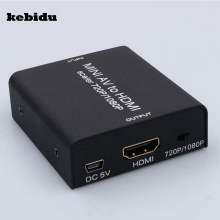 kebidu AV2HDMI Composite 3 RCA AV to HDMI CVBS to HDMI Adapter Support HD 720P 1080P AV to HDMI Mini av2 hdmi Video Converter(China)