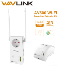 Wavlink AV500 powerline adapter Wireless Wi-Fi Extender Kit Power line ethernet adapter wifi Mini plc homeplug Pairs 300Mbps NEW(China)